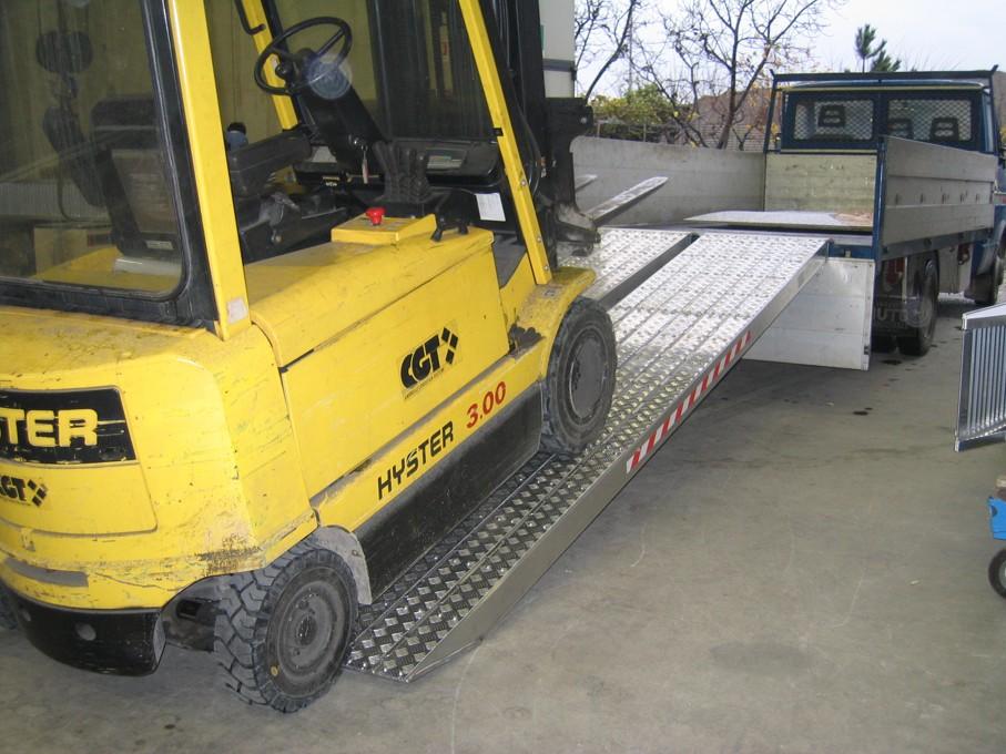 Nájazdy s hlinikovým povrchom pre ťažkú techniku do 26.000 kg