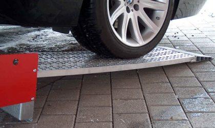 Hliníkové nájazdy pre autá a malé stavebné stroje protisklzové do 3.000 kg