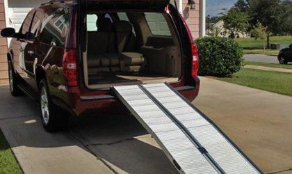 Trikrát zložiteľné nájazdy pre invalidné vozíky